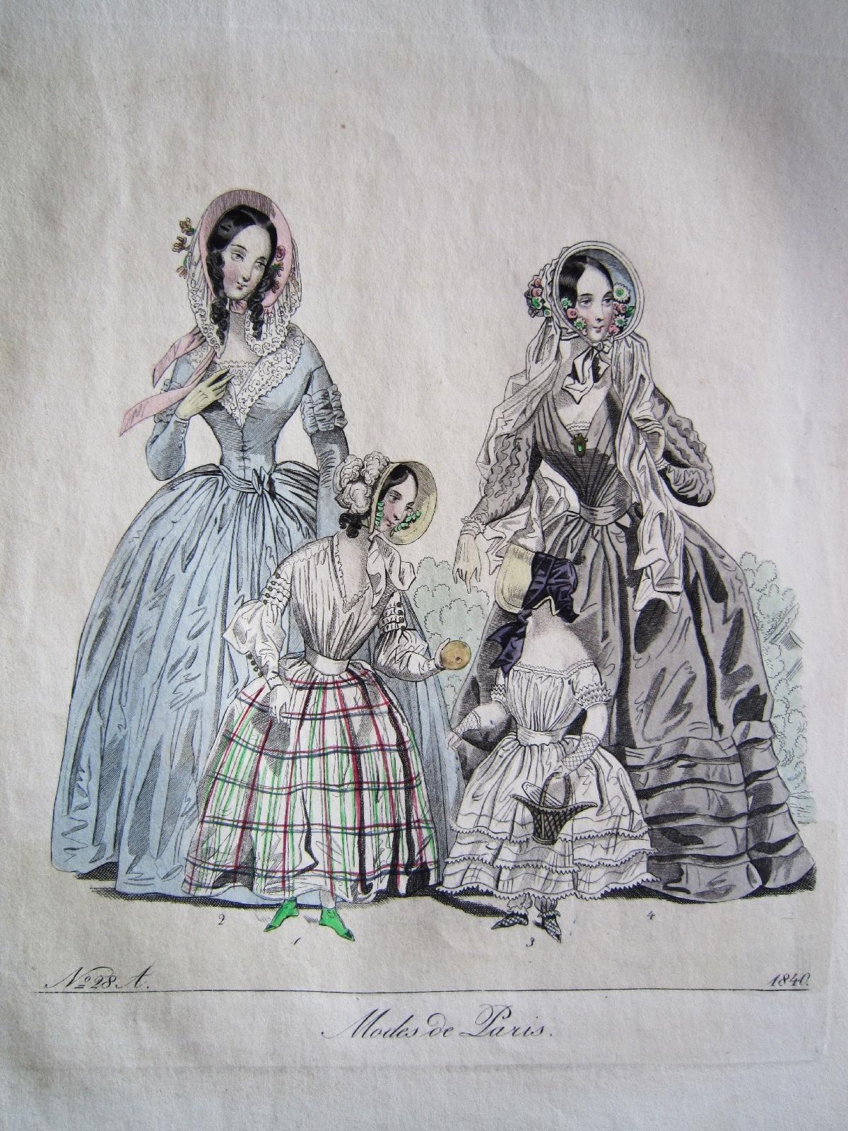 Was Ist Ein Biedermeier kleine mädchen kinder mutter biedermeier mode kupferstich 1840 ebay